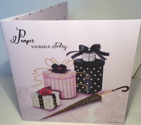 Maranda-Ti Couture Glamour Birthday Greeting Card - HerbysGifts.com