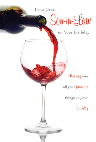 Son-in-Law Birthday Card - HerbysGifts.com