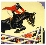 Show Jumping Birthday Greeting Card - Blank Inside - 6.5 x 6 Inches - HerbysGifts.com
