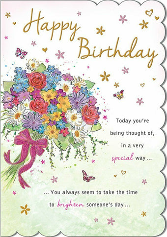 Happy Birthday Card For A Woman - HerbysGifts.com