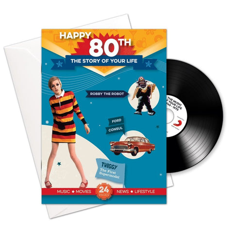 Happy 80th Story of Your Life CD Card - HerbysGifts.com