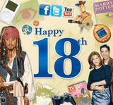 Happy 18th Birthday CD Card