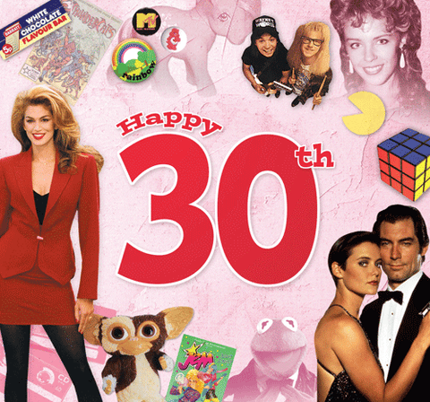 Happy 30th CD Card - HerbysGifts.com