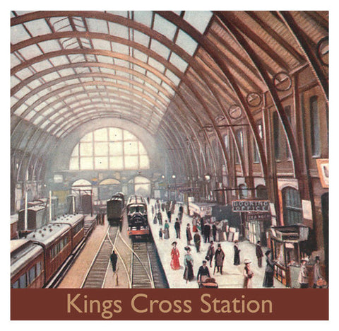 Kings Cross Station Birthday Card - Blank Inside - 6.5 x 6 Inches - HerbysGifts.com