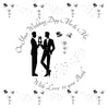 Mr & Mr Wedding Day Card - HerbysGifts.com - 6 x 6 Inches
