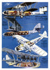 Airplanes Greeting Card - Blank Inside - 7 x 5 Inches - HerbysGifts.com