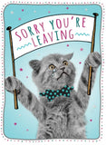 Sorry You`re Leaving Card A4 - HerbysGifts.com