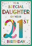 Daughter 21st Birthday Card - HerbysGifts.com