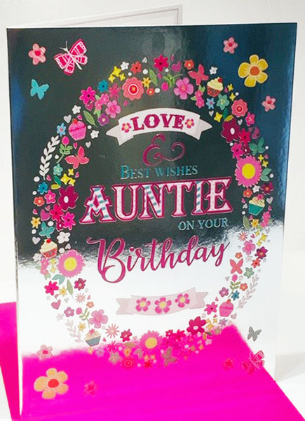 Auntie Happy Birthday Card Cards For Niece