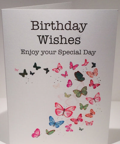 Butterfly Birthday Card - 7 x 5 Inches - HerbysGifts.com