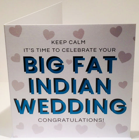 Big Fat Indian Wedding Congratulations Card - HerbysGifts.com