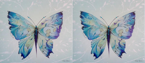 Luxury Butterfly Birthday Card TWIN PACK - HerbysGifts.com