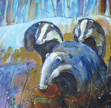 Badgers Greeting Card - Blank Inside - 6.5 x 6 Inches - HerbysGifts.com