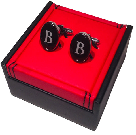 Personalised Mens Cufflinks - BB - HerbysGifts.com