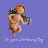 Cherub Christening Card
