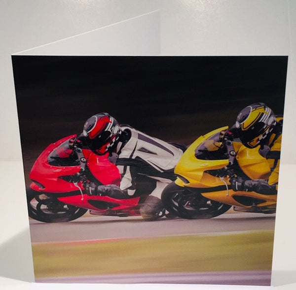 Motorcycle Birthday Card Motorbike