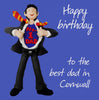 Happy Birthday Best Dad in Cornwall Card - HerbysGifts.com
