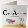 15th Wedding Anniversary Card - CRYSTAL - HerbysGifts.com