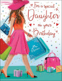 Daughter Birthday Card - Shopping Bags - HerbysGifts.com