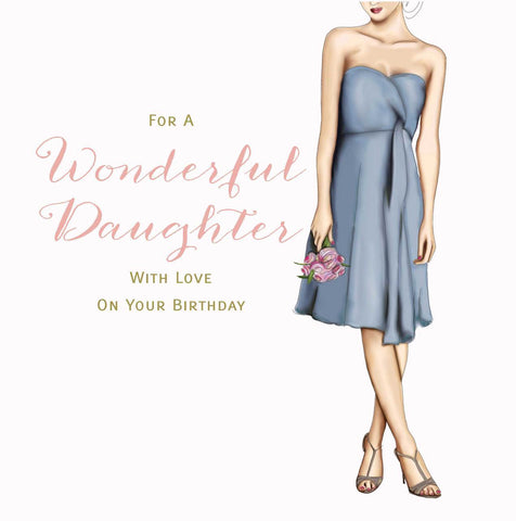 Daughter Birthday Card - HerbysGifts.com - 8.25 x 8.25 Inches