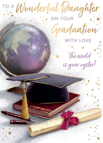 Daughter Graduation Card - HerbysGifts.com