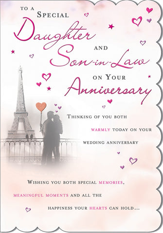 Daughter and Son-in-Law Anniversary Card - HerbysGifts.com