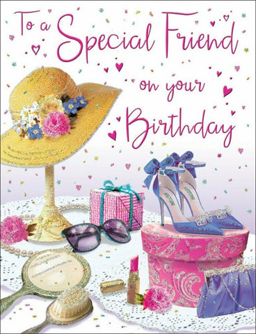 Special Friend Birthday Card - Female - HerbysGifts.com