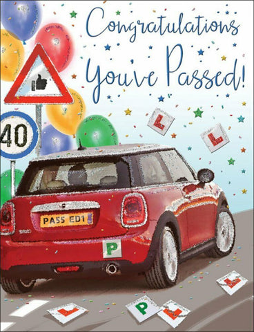 Driving Test Congratulations Card - HerbysGifts.com