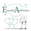 Emerald Wedding Anniversary Card - 6 x 6 Inches - HerbysGifts.com