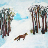 Fox Greeting Card - Blank Inside - 6.5 x 6 Inches - HerbysGifts.com