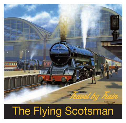 Flying Scotsman Greeting Card - Blank Inside - 6.5 x 6 Inches - HerbysGifts.com
