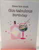 Gin Birthday Card - 7 x 5 Inches - HerbysGifts.com