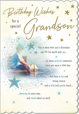 Grandson Birthday Card - HerbysGifts.com