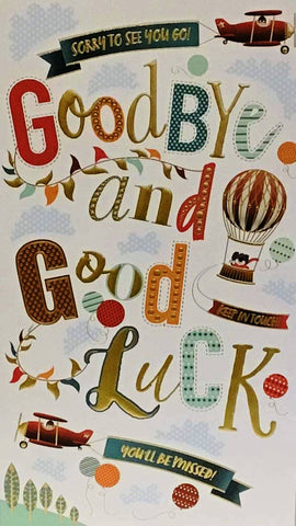 Goodbye & Good Luck Card - HerbysGifts.com