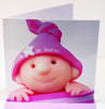 Newborn Baby Girl Card - HerbysGifts.com