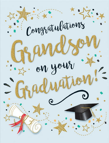 Grandson Graduation Card - HerbysGifts.com