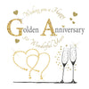 Golden Wedding Anniversary Card - HerbysGifts.com - 6 x 6 Inches