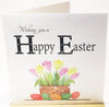 Happy Easter Card - HerbysGifts.com - 6 x 6 Inches - Flowers and Eggs