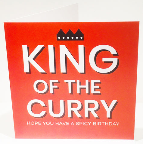 King of the Curry Birthday Card - HerbysGifts.com