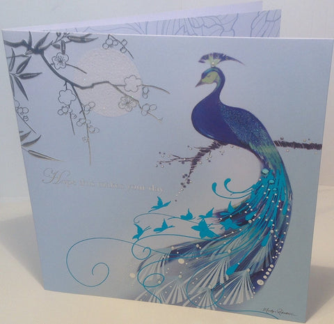 peacock gteeting card-HerbysGifts.com