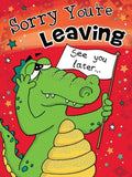 A4 Sorry You`re Leaving Card - HerbysGifts.com