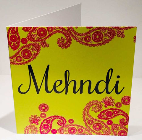 Mehndi Wedding Card - HerbysGifts.com