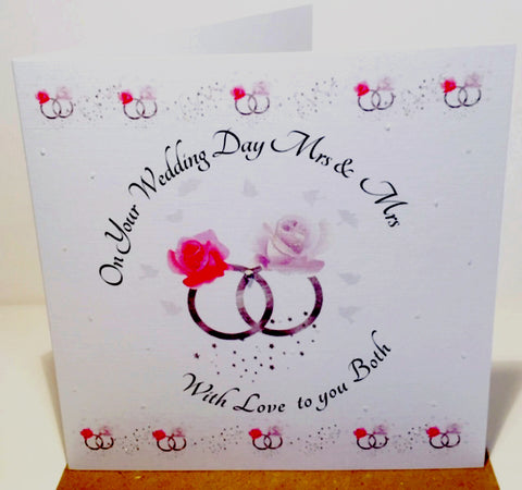 Mrs and Mrs Wedding Day Card