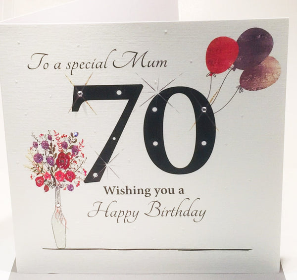 Fantastic Large 70Th Birthday Card For A Special Mum 70Th Birthday Card Mum Personalised Birthday Cards Bromeletsinfo
