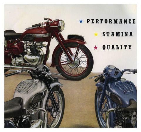 Vintage Motorcycles (1930s to 1950s) Greeting Card - HerbysGifts.com