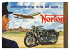 Norton Motorcycle Greeting Card - Blank Inside - 7 x 5 Inches - HerbysGifts.com