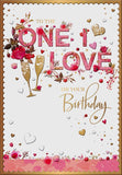One I Love Birthday Card - HerbysGifts.com