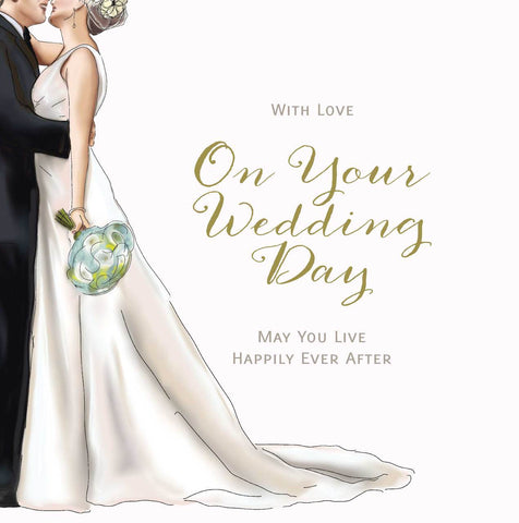 With Love On Your Wedding Day Card - HerbysGifts.com - 8.25 x 8.25 Inches