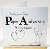 Paper Anniversary Card - 1st - HerbysGifts.com