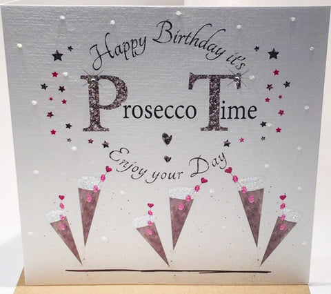 Prosecco Birthday Card - HerbysGifts.com